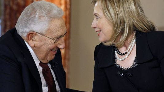Henry Kissinger and Hillary Clinton in Washington in 2011.