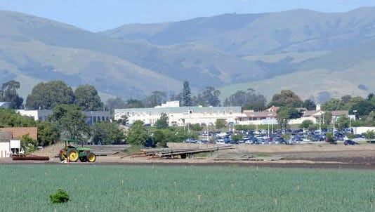A view in April across the Ikeda property from the Salinas Adult School in the direction of Natividad Medical Center.
