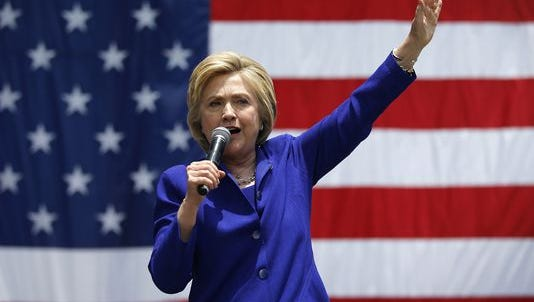 Hillary Clinton speaks at a rally on June 6, 2016, in Lynwood, Calif.