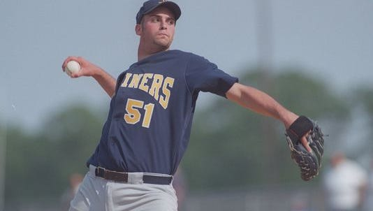 J.M. Gold, shown pitching for Toms River High School North in 1998, is one of 31 players with New Jersey ties to be selected in the first round of Major League Baseball's First-Year Player Draft.