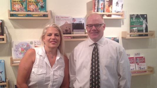 Patti Jefferson, left, and Tim Jacobs, are the co-owners of the Gulf Coast Bookstore in Fort Myers.