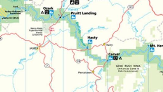 Map from buffaloriver.com