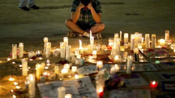 Memorial for Orlando victims.