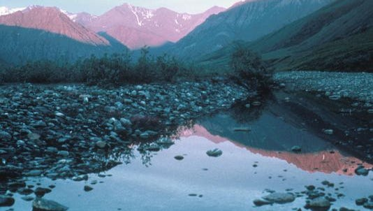 This undated photo shows the Kongakut Valley in the Arctic National Wildlife Refuge in Alaska.