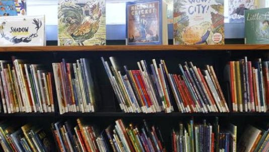 Children's books are displayed inside the Yorktown Library in this file photo.