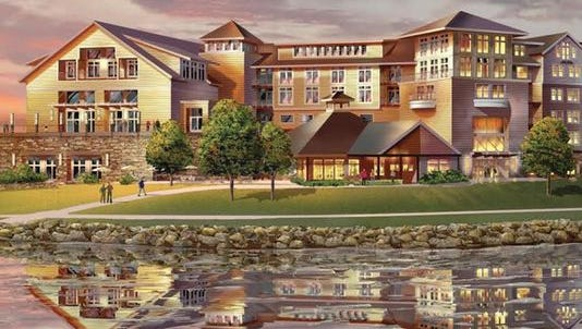 A rendering of the Canandaigua Finger Lakes Resort.