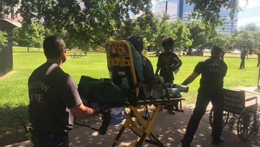 There was chaos in Hermann Park Thursday when at least 16 people had to be rushed to the hospital.  At least some of them were suffering from the effects of synthetic marijuana or Kush, according to Ruy Lozano with the Houston Fire Department.