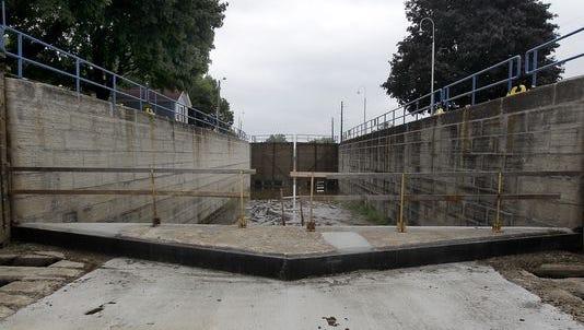 Kaukauna Lock #3 on Aug. 18, 2015, in Kaukauna