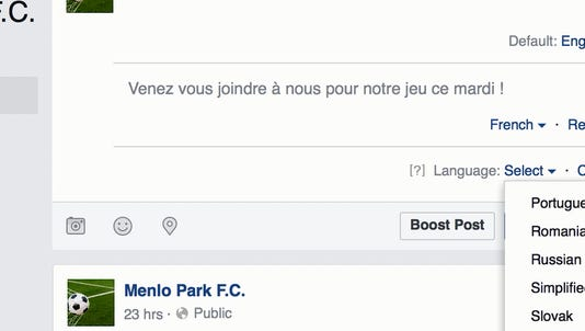 Facebook's new multilingual feature will allow you to write posts in up to 45 different languages.