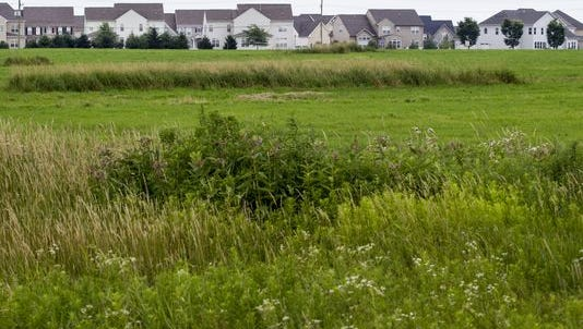 A new subdivision sits next to an open field in Middletown, one of the centers of Delaware's population growth in recent years.