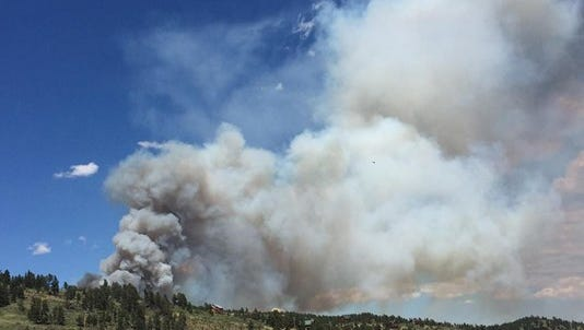 Crews are fighting a wildfire that broke out in Nederland on Saturday afternoon.
