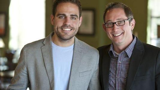 Matthew Dooley (left) and Mike Sarow of Kapture