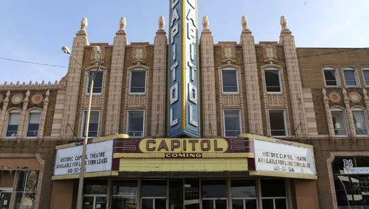 The Capitol Theatre in downtown Flint is seen on Feb. 23, 2016.