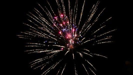 Fireworks at the Stars & Stripes Festival.