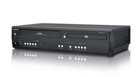 A VCR-DVD combo