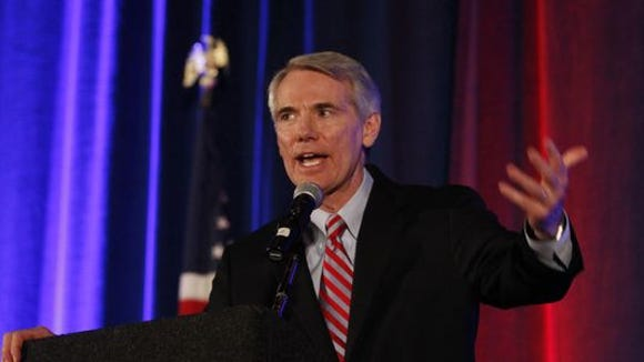 Senator Rob Portman, R-OH, speaks at the Hamilton County Republican Club Lincoln-Reagan Day Dinner. Portman received an endorsement from the Teamsters Monday.