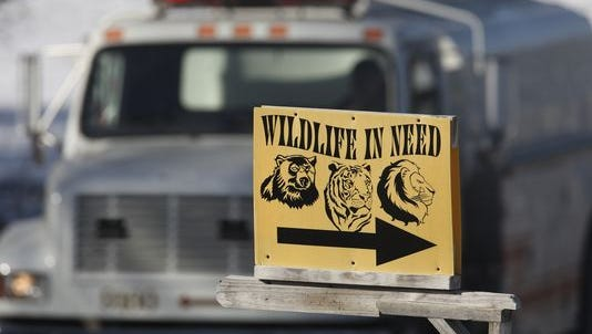 Wildlife in Need in Charlestown, Ind., after a fire killed 41 animals at the refuge.