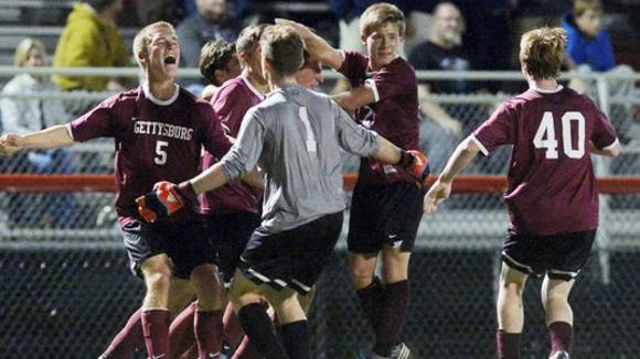 The Gettysburg boys' soccer team won the YAIAA title