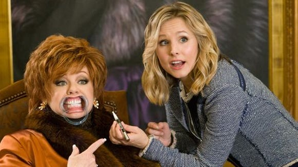 """Melissa McCarthy, left, plays Michelle Darnell and Kristen Bell plays Claire in a scene from """"The Boss."""""""