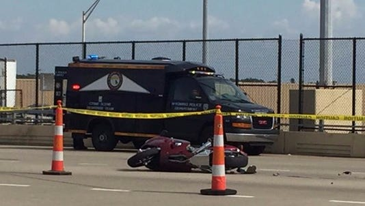 A semi-truck turned in front of a motorcyclist on 44th Street over U.S. 131, killing its rider.