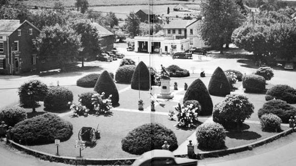 An undated photograph of the Jefferson Square from the book, 'The Story of Jefferson Codorus, Pennsylvania'. The southwestern York county borough sits south of Spring Grove and east of Hanover,  one of York County's most attractive communities.