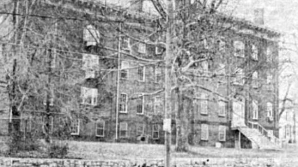 The Children's Home  of York was built post-Civil War as a place for children orphaned by the war's wrath to grow up. That wall remains, but its foundation is covered by a small shopping center, another caterer to vehicle traffic. It sat at Pine and Philadelphia.