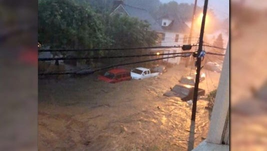 Flooding destroyed parts of Ellicott City, Md. overnight.