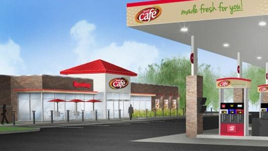 """The Speedy Cafe under construction in Hartland Township is a """"prototype"""" Speedway is launching in Hartland."""