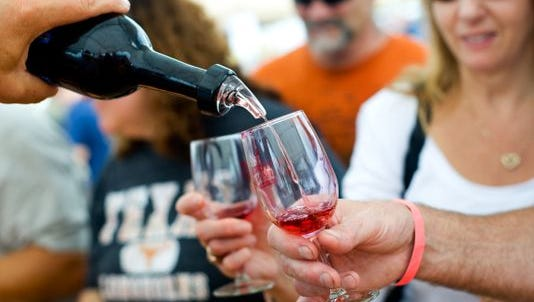 Wine is shown being poured at a past Gettysburg Wine & Music Festival.