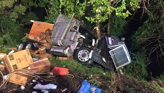 This July 25 tractor-trailer crash along I-83 near Loganville was just one of several that have taken place along that section of the highway over the past few months.