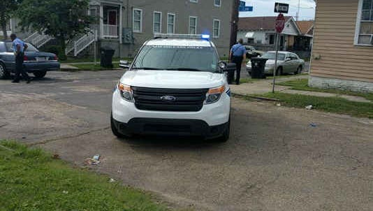 Louisiana law enforcement officials maintain a perimeter around a shooting scene in New Orleans Aug. 21, 2016.
