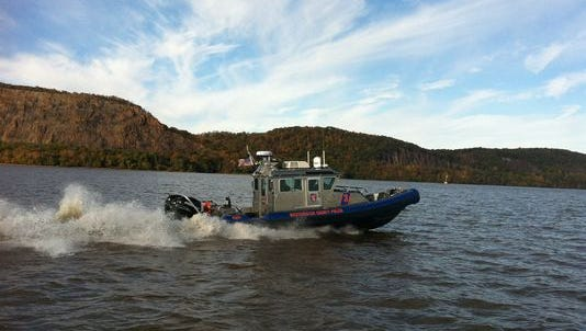 The Westchester County Police Marine Unit rescued two people from the Hudson River after they jumped from their burning boat off Briarcliff Manor.