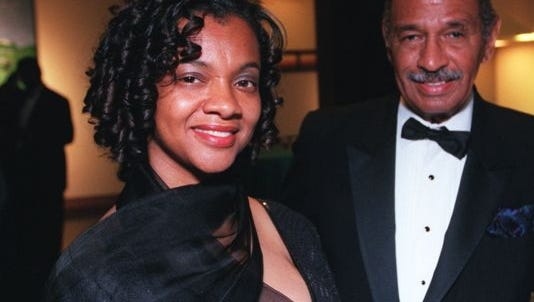 Monica Conyers and John Conyers in a Free Press file photo.