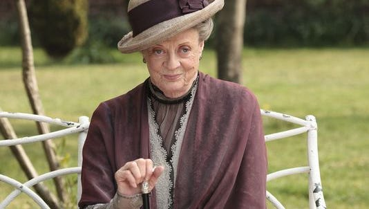 "Maggie Smith as the Dowager Countess Grantham, is shown in a scene from the second season of ""Downton Abbey."
