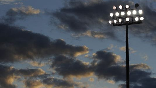 Cramton Bowl has cut $324,000 in utility costs since the city's partnership with energy consulting company Cenergistic began. File photo of stadium lights.