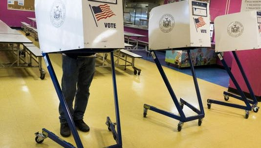 Voting in New York City on April 19.