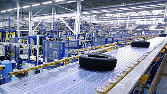 A Sentury Tire production facility.