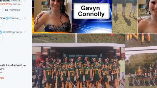 A collection of images posted to Twitter of Gavyn Connolly, the Timber Creek student who died after being struck by a car in Washington Township in April.