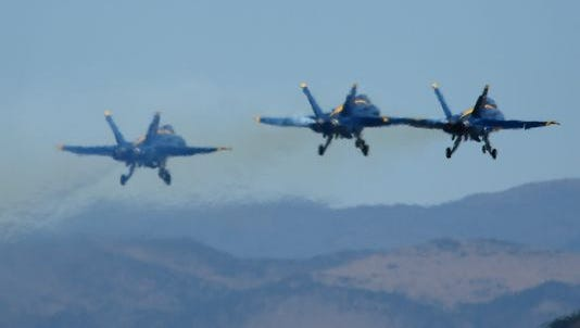 The Blue Angels are seen Sept. 15, 2016, at the 2016 Reno National Championship Air Races at Stead Airport.