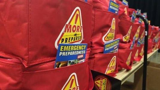 Emergency preparedness kits.
