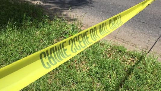 A man was treated for a gunshot wound to one of his legs earlier Monday on Hynson Street, according to police.