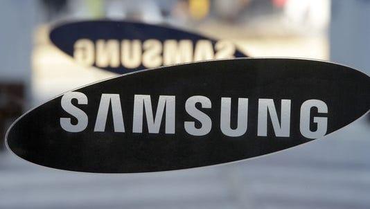 A Samsung logo.