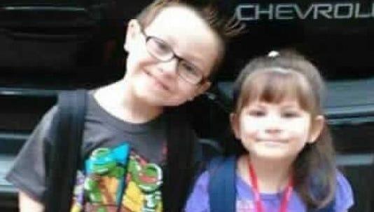 Jacob Hall and his sister