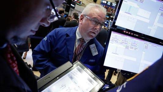 Dow jumps as investors eye Deutsche Bank.