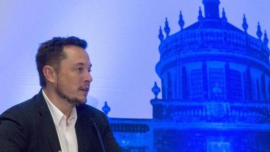 Tesla Motors CEO Elon Musk speaks in Guadalajara, Mexico, on Sept. 27, 2016.