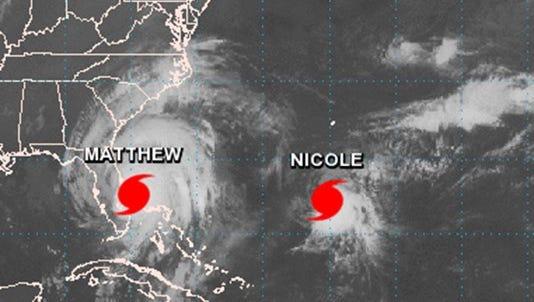 Hurricane Matthew and Hurricane Nicole