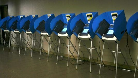 Voting machines in El Paso County Elections Department