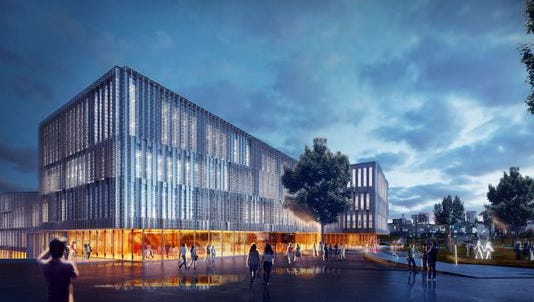 A rendering of the $120 million Carl H. Lindner College of Business at the University of Cincinnati's main campus.