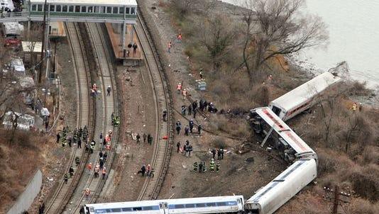 Four people were killed when a Metro-North train derailed near Spuyten Duyvil on Dec. 1, 2013.