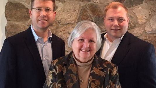 Democratic candidates for Morris County freeholder, from left: Mitch Horn, Rozella Clyde, John Von Achen.